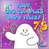 Cumpleaños para cada edad - Tarjetas postales: 75 Años
