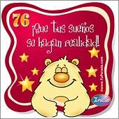 Cumpleaños para cada edad - Tarjetas postales: 76 Años