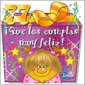 Cumpleaños para cada edad - Tarjetas postales: 77 Años