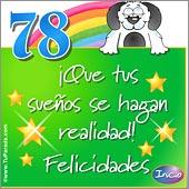 Cumpleaños para cada edad - Tarjetas postales: 78 Años