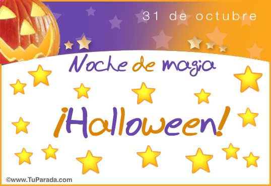 Tarjeta - Halloween con estrellas