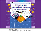 Tarjeta - Saludo de Halloween
