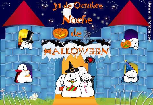 Tarjeta - Castillo Halloween