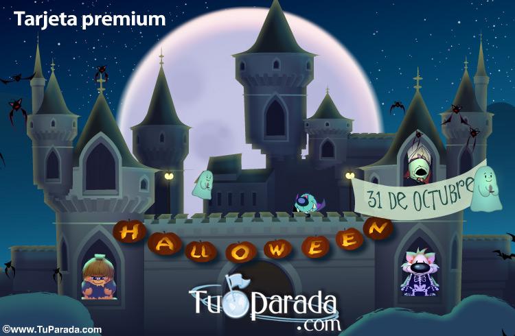 Tarjeta - Castillo de Halloween