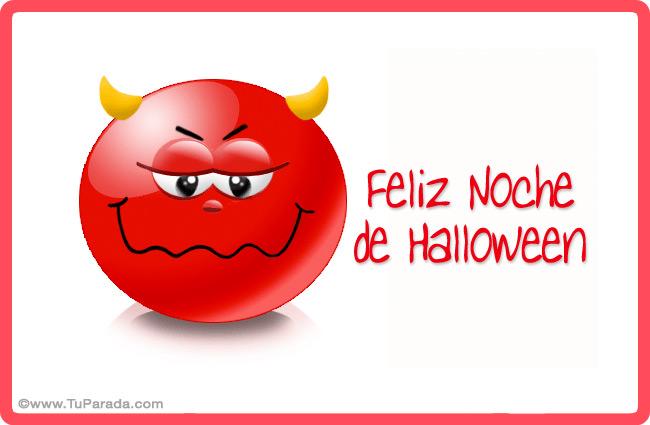 Tarjeta - Diablito de Halloween