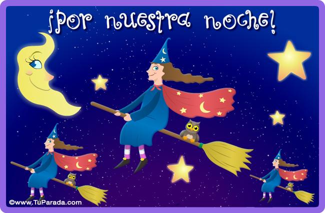 Tarjeta - Por una gran noche de brujas