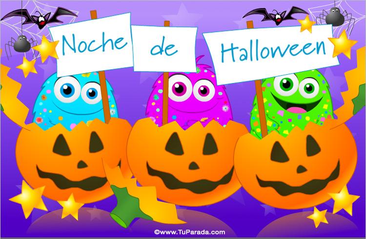 Tarjeta - Festejo de Halloween
