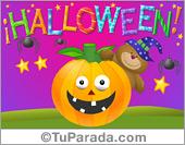 Tarjeta - Ecard de Halloween con osito