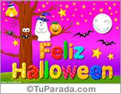 Tarjetas postales: Tarjeta animada para Halloween