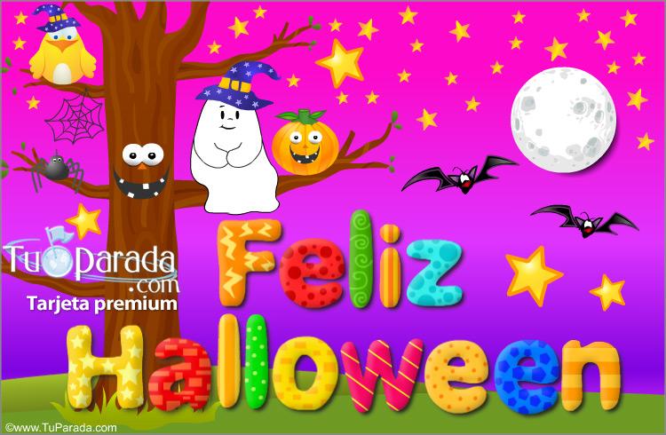 Tarjeta - Tarjeta animada para Halloween