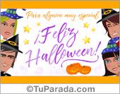 Tarjetas postales: Tarjeta de Halloween para amigos