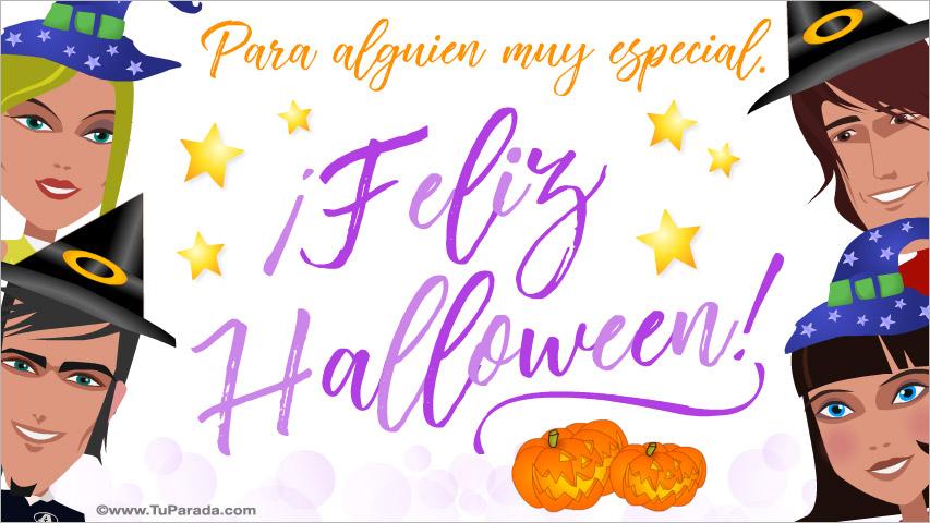 Tarjeta - Tarjeta de Halloween para amigos