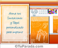 Invitación formal - Para escritorio con Flash