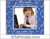 Tarjetas postales: Portarretrato decorativo personalizable