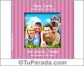 Tarjetas, postales: Portarretrato rosa personalizable