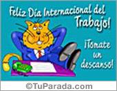 Tarjetas postales: Día Internacional del Trabajo.