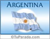 Tarjeta - Bandera de Argentina