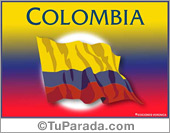 Tarjetas postales: Bandera de Colombia