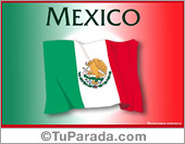 Tarjetas postales: Bandera de México