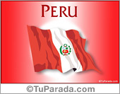 Tarjeta de Fiestas de Perú