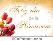 Tarjetas postales: Día de la Primavera