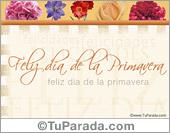Día de la Primavera - Tarjetas postales: Feliz día de la Primavera