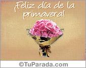 Día de la Primavera - Tarjetas postales: Flores para la primavera