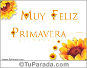 Día de la Primavera - Tarjetas postales: Muy feliz Primavera