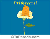 Tarjeta - Primavera