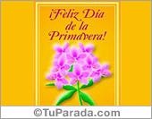 Tarjetas postales: Feliz día de la primavera con flores