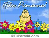 Día de la Primavera - Tarjetas postales: Feliz Primavera con sorpresa