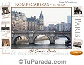 Rompecabezas - Postal de París.