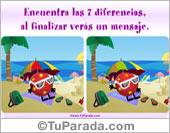 Juego de las 7 diferencias en la playa