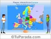 Mapa de Europa para armar