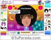 Tarjetas postales: Modelo Felicidades Pop Art de varón
