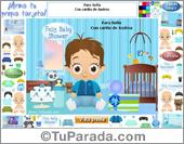 Arma una tarjeta de Baby Shower o de feliz nacimiento de varón