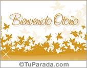Tarjetas postales: Bienvenido Otoño