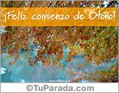 Tarjetas, postales: Feliz comienzo de otoño