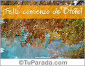 Tarjeta - Feliz comienzo de otoño