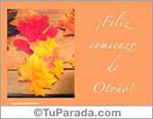 Tarjetas, postales: Tarjeta para el comienzo del otoño