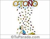 Tarjetas postales: Tarjeta de hojas de Otoño