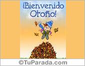Tarjeta - Bienvenido Otoño.