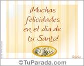 Tarjetas postales: Muchas felicidades en el Día de tu Santo.