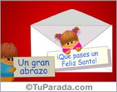Feliz Santo - Tarjetas postales: Sobre con sorpresa.