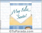 Tarjetas postales: Muy Feliz Santo
