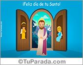 Tarjeta de Feliz Santo