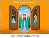 Postal para el día del Santo