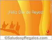 Tarjeta - Feliz Día de Reyes iluminado