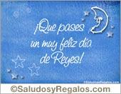 Tarjeta - Día de Reyes celeste