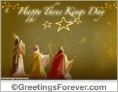 Greeting ecards: Three Kings Day